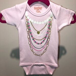 Necklaces baby onesie